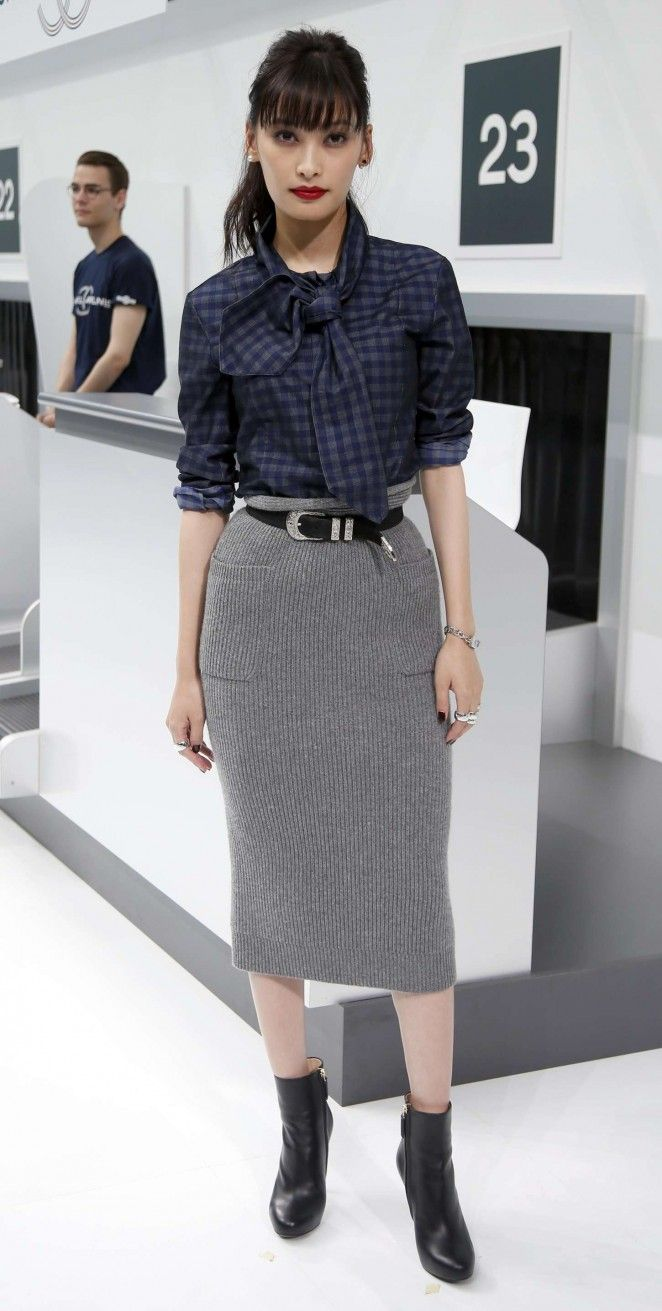 Aya Omasa - Chanel Show as part of Paris Fashion Week in Paris