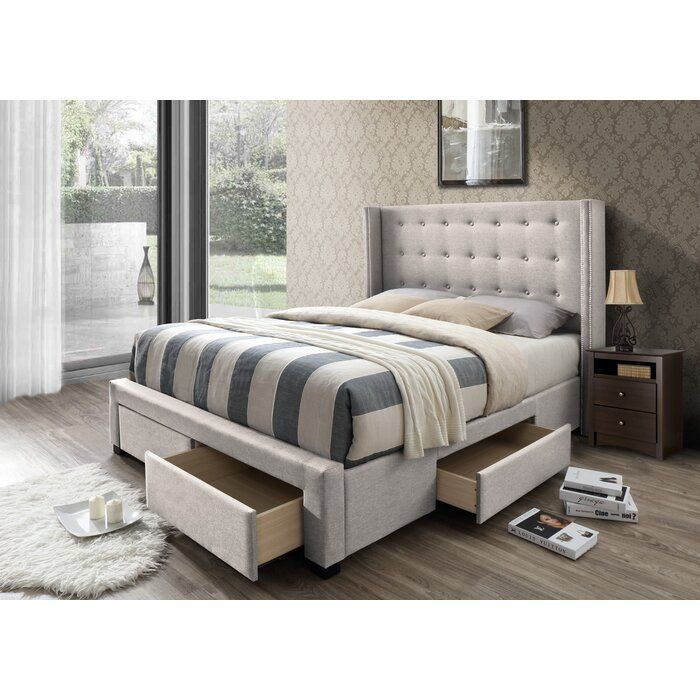Best Kerens Upholstered Storage Standard Bed Reviews Birch 400 x 300