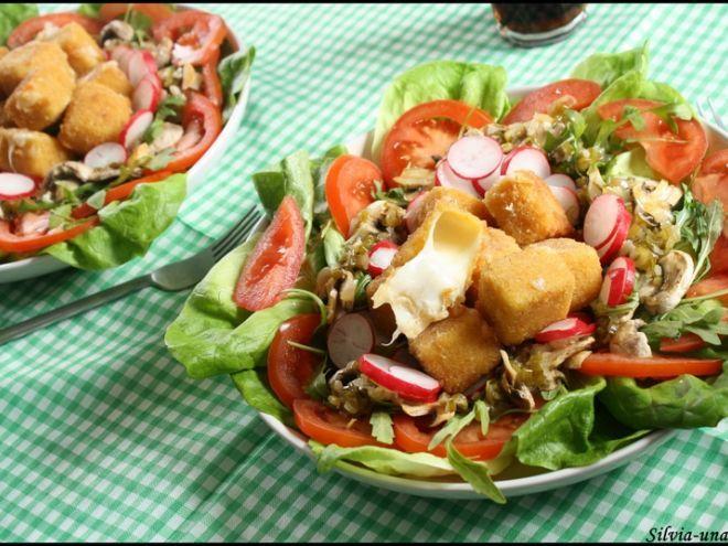 Rețetă Antreuri : Salata cu cascaval pane si carpaccio de ciuperci de SilviaU