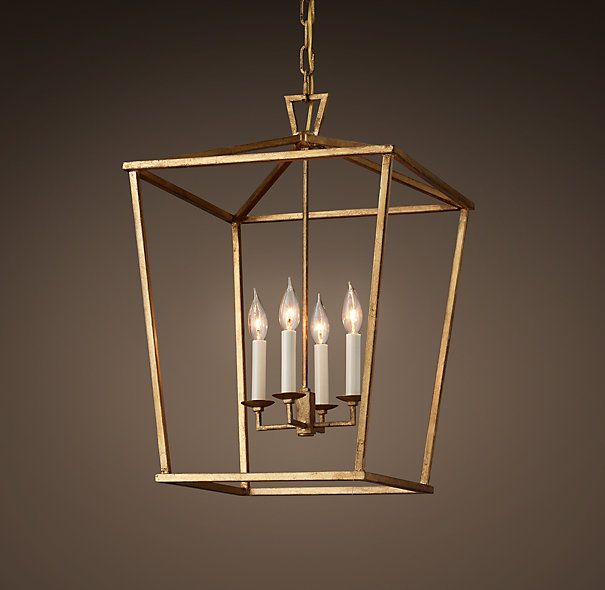 "Maybe to be used as ""chandelier"" for dining room Restoration Hardware 19Th C. English Openwork Pendant - Gilded Iron"
