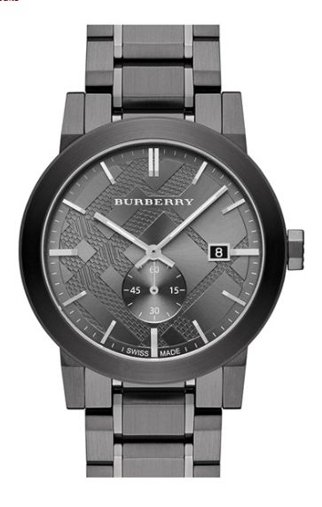 Classic Men's Burberry Check Stamped Watch http://rstyle.me/n/tkizebh9c7