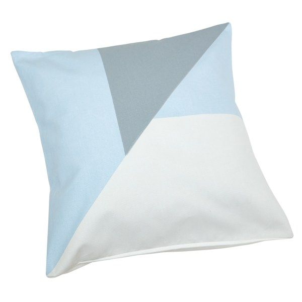 Blue Geometric Scatter Cushion Cover   Screen printed on cotton canvas   Size 40 x 40 cm