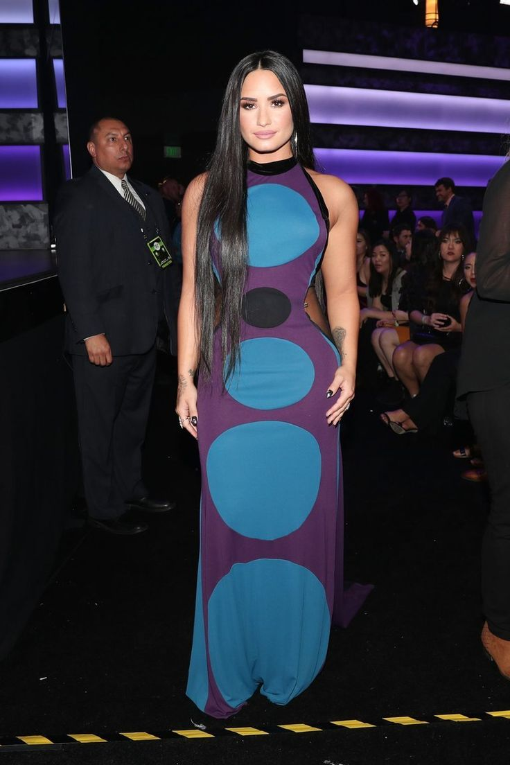 """"""" November 19: Demi Lovato in Ruthie Davis at the 2017 American Music Awards show in Los Angeles, CA """""""