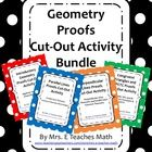 This is a bundle of my four proofs cut-out activities.  Included are:  1)  Introductory Geometry Proofs Cut-Out Activity 2)  Parallel Lines Proofs ...