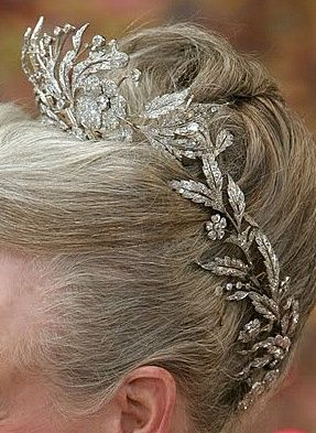Queen Margrethe wearing the Floral Aigrette Tiara from Denmark.
