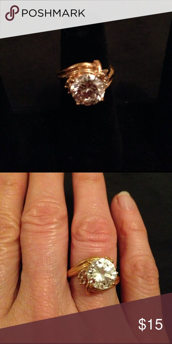"Ring Park Lane ""Outrageous"" ring. Genuine 6ct CZ!! A show stopper!! Park Lane Jewelry Rings"