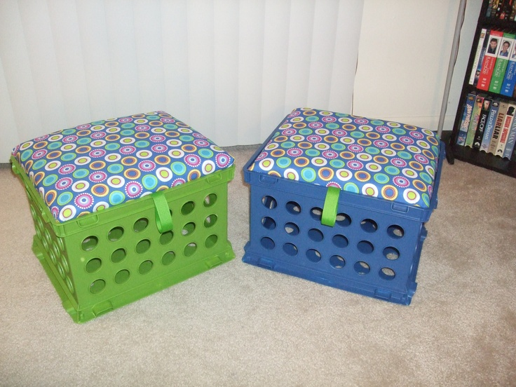 the crate seats my husband made for me