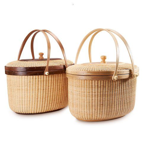 Tengtian Brand, Nantucket Basket, Picnic Basket, Shopping Basket, Basket, Storage Basket, Rattan, Chinese Traditional Handicrafts, Casual Style, Natural Environmental Protection  Deeply Grooved American Hardwood Base,Brass Rim Nails,Handle American Hardwood,Clear Lacquer Finish Materials: the basket body adopts from Southeast Asia tropical rainforest in Indonesia rattan city; bottom...