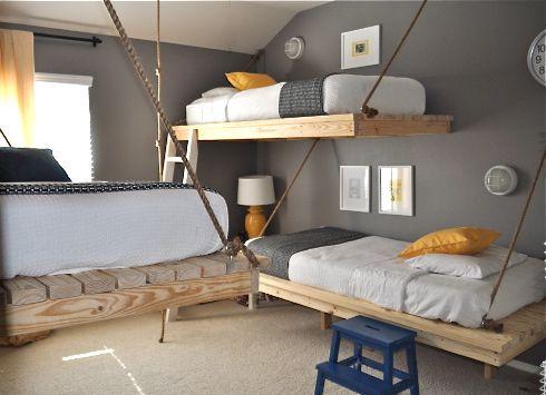 Cute Boy Bedroom #Bedroom #Bunkbed #Yellow