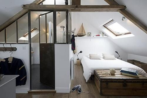 An attic apartment is a great use of spare space.