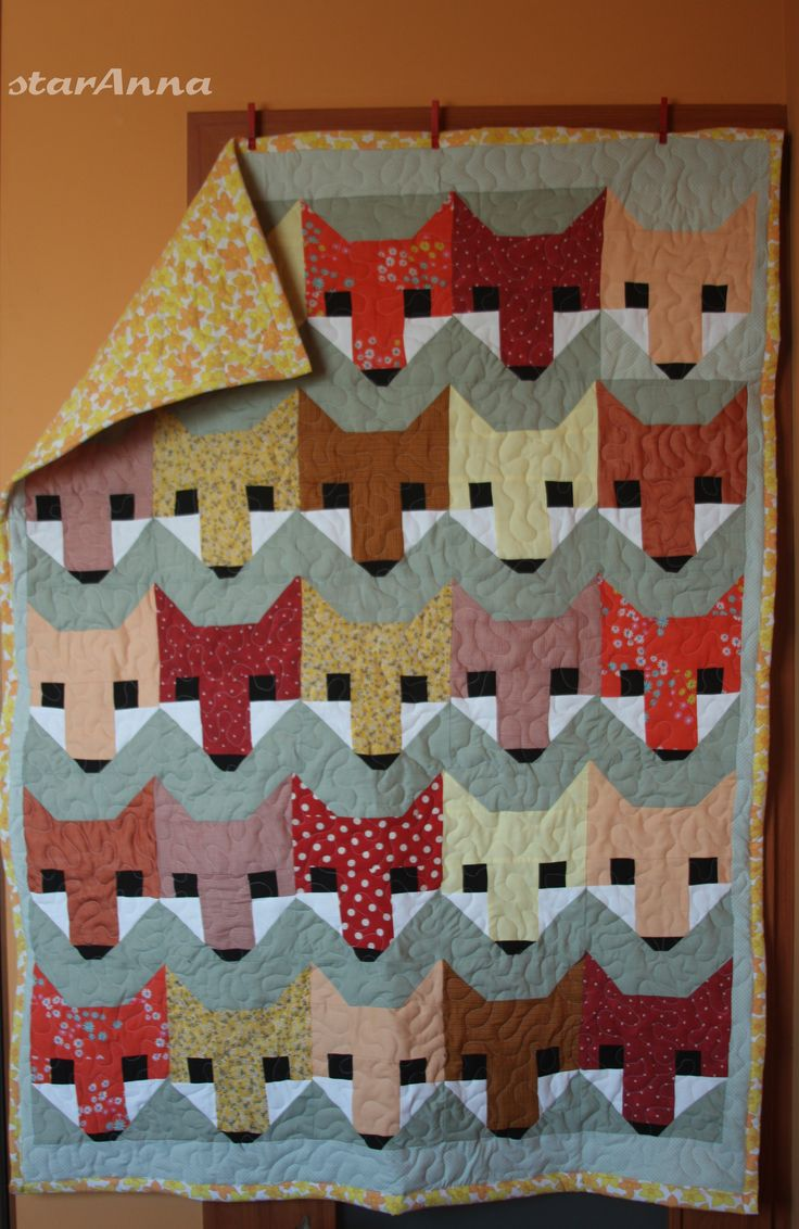 Fox patchwork/Liski dla Karoli http://annastaranna.blogspot.com/2015/04/liski-dla-karoli.html