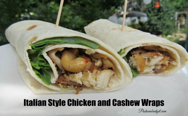 Italian Style Chicken and Cashew Wraps