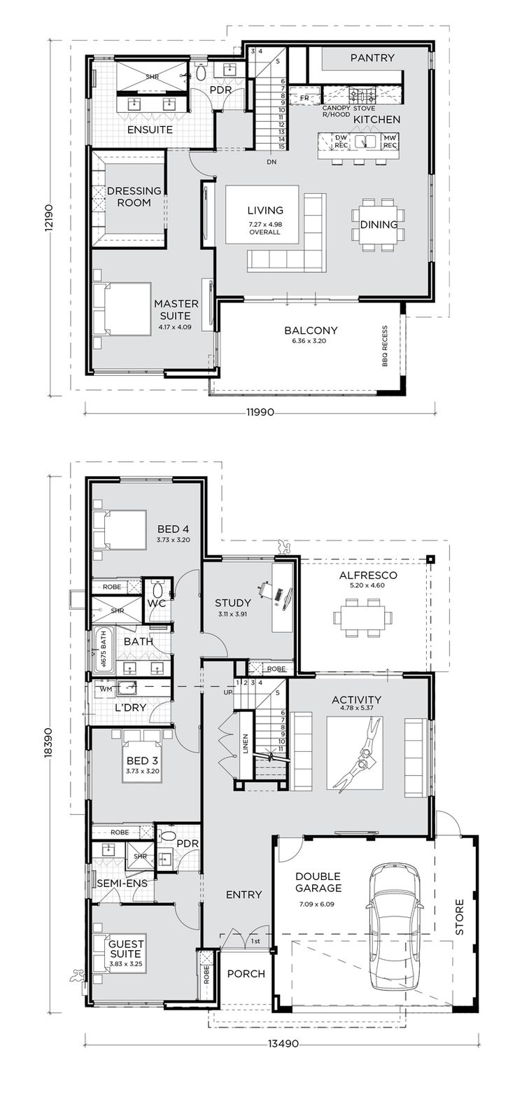 36 Best Reverse Living House Plans Images On Pinterest