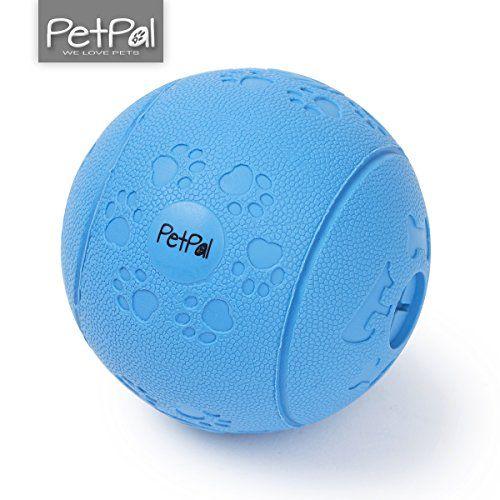 Hunde-Spielzeug Snack Ball (ø 7cm) von PetPäl aus Naturkautschuk |Hundespielball | Hundeball | Kauspielzeug aus Naturgummi | Spielzeug für Große & Kleine Hunde