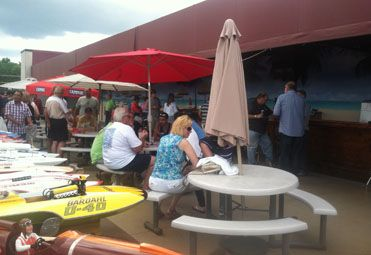 Our outdoor patio is perfect for dining & drinking while watching a softball game.
