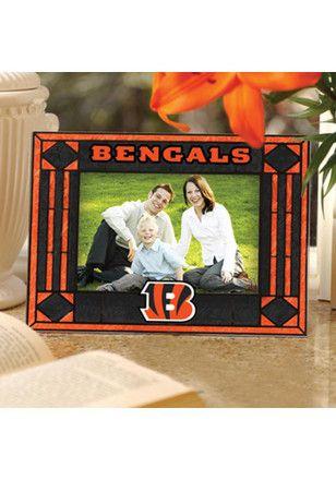 Cincinnati Bengals Art-Glass Horizontal Picture Frame