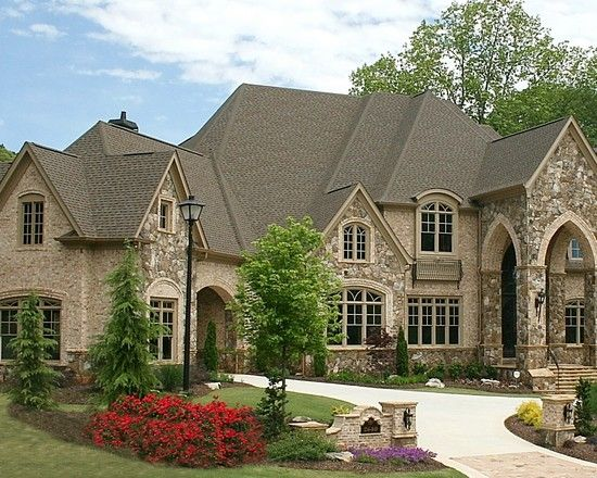 Exterior stone and brick