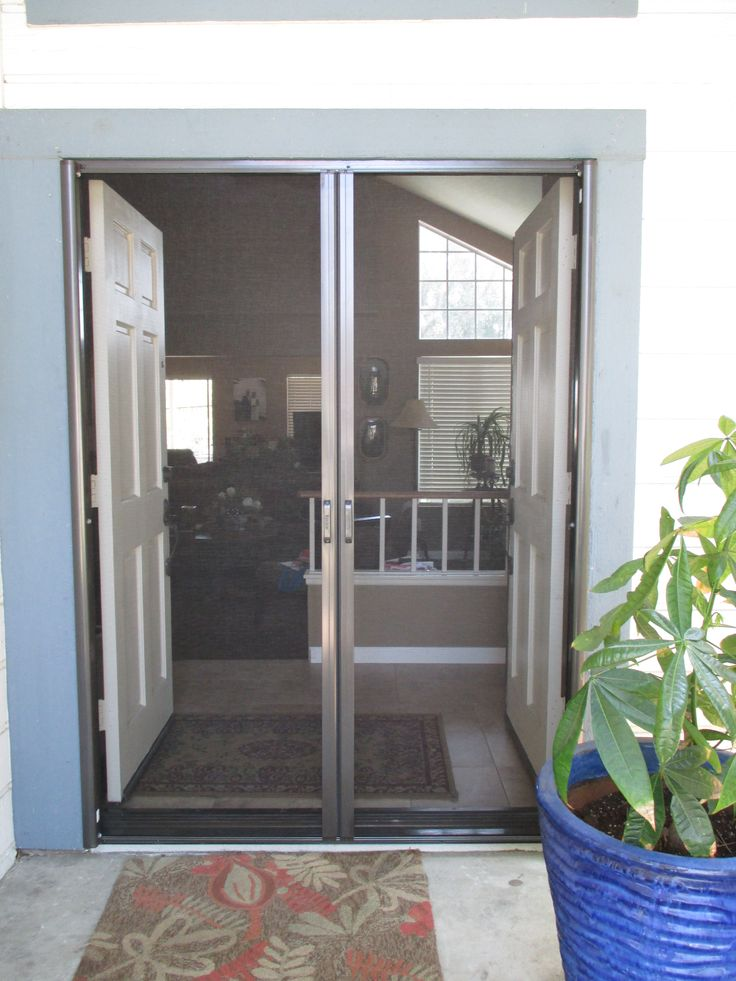 25 best ideas about french doors with screens on for Screen door solutions for french doors