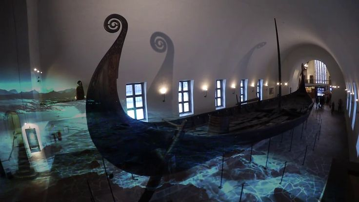 This is the Gokstad ship .The ship is a bit more masculine than the Oseberg ship. You can see the decoration is a bit rougher than Oseberg. This is high technology from the older medieval . Pretty amazing to fancy those stupid Vikings actually managed to create something like this ? We are impressed .