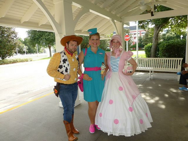 Best Disney group costume! Toy Story - Woody, Tour Guide Barbie, and Bo Peep!