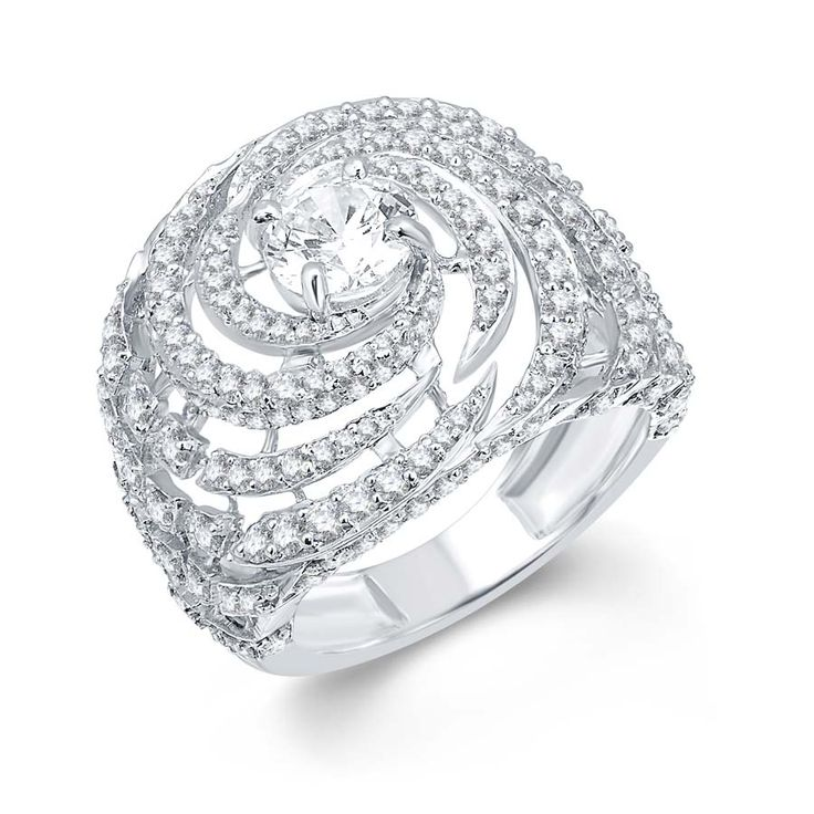 Frozen Swirl Ring  Product Code : ADR1400017 Type : Swarovski Color : Pure White  #Rings, #SilverRingsForWomen, #SilverRingsForGirl, #BuySilverRingsOnlineIndia, #SilverRingsShopping, #SilverRingsShoppingOnline, #DesignerRings, #DesignerSilverRingsOnline, #BuyDesignerSilverRings