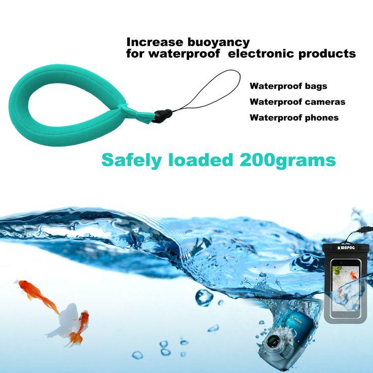Waterproof Camera Float Strap WAPAG Universal Floating Wristband Buoyancy Belt for GoPro/Panasonic/Nikon COOLPIX/Canon PowerShot/Fujifilm FinePix/Waterproof Bag/Cell Phone - Turquoise
