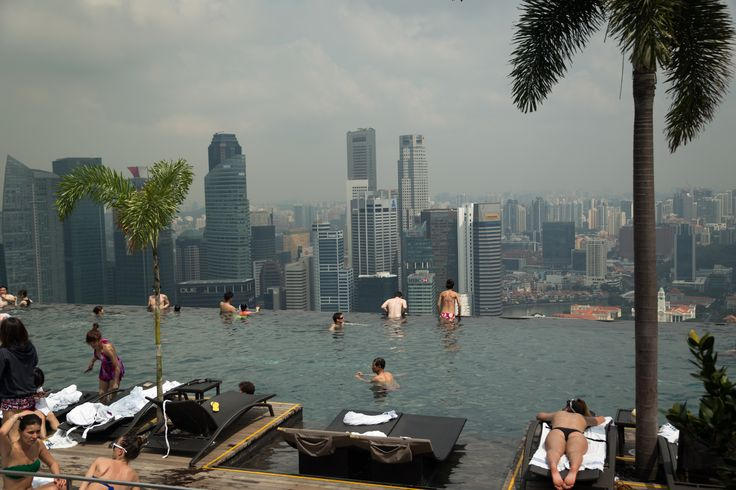 Marina Bay Sands infinity pool. Cruising from Sydney to Singapore (and Malaysia) aboard Royal Caribbean's Voyager of the Seas   ---> http://www.confiscatedtoothpaste.com/cruising-from-sydney-to-singapore-and-malaysia-aboard-royal-caribbeans-voyager-of-the-seas/
