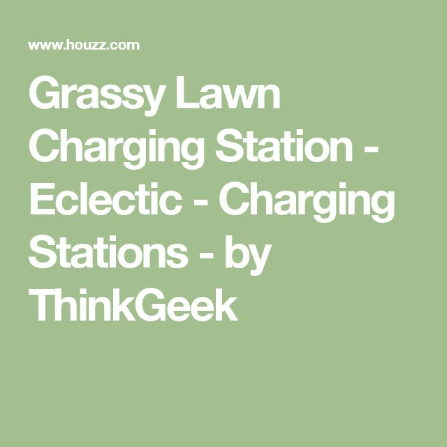 Grassy Lawn Charging Station - Eclectic - Charging Stations - by ThinkGeek