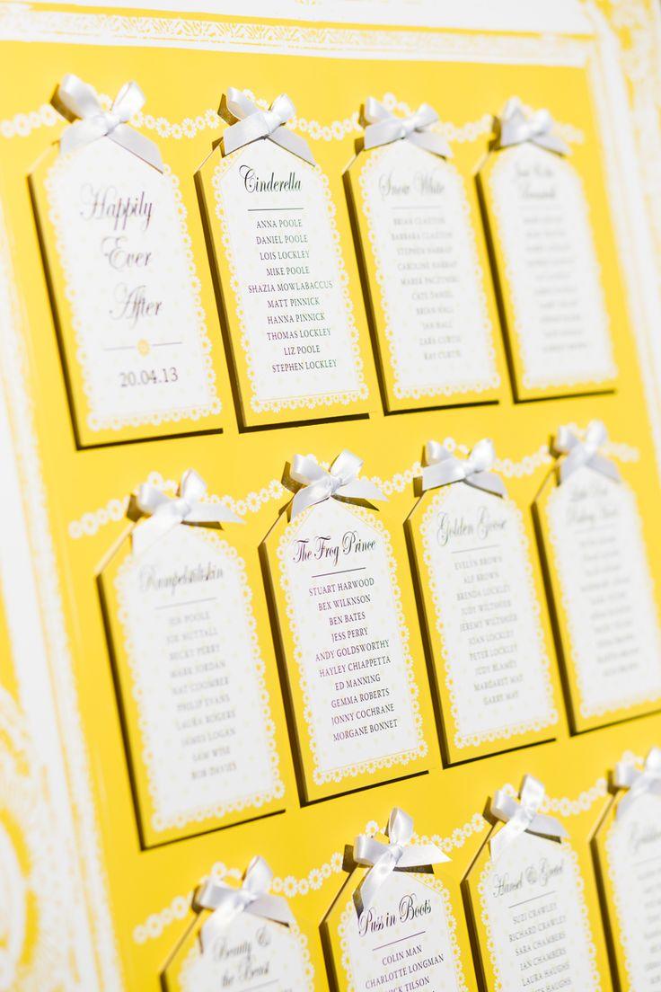 ビタミンイエローのシーティングチャート♡ 黄色のおしゃれな席次表一覧。結婚式の席次表まとめ。
