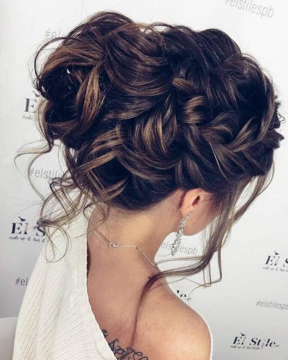 Long Wedding Hairstyles & Bridal Updos via Elstile / http://www.deerpearlflowers.com/long-bridesmaid-hair-bridal-hairstyles/2/