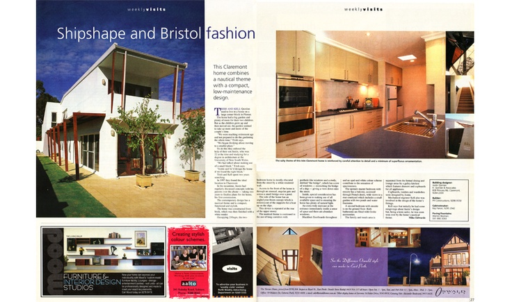 Perth Weekly, Quinlan Residence. Shipshape and Bristol Fashion.