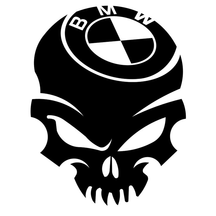 Stickers Skull BMW