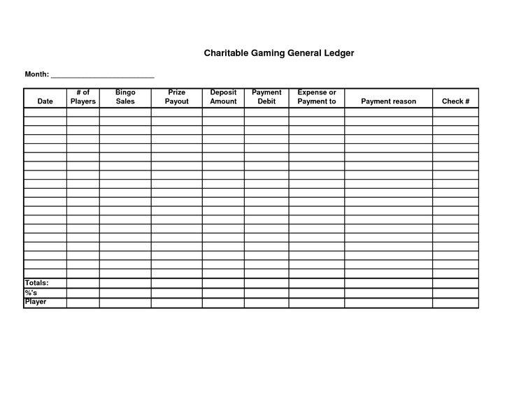 free printable general ledger sheet