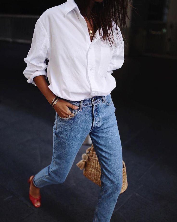 Who said basics have to be basic? @andicsinger steps out wearing the Kayla shirt. #modelcitizen