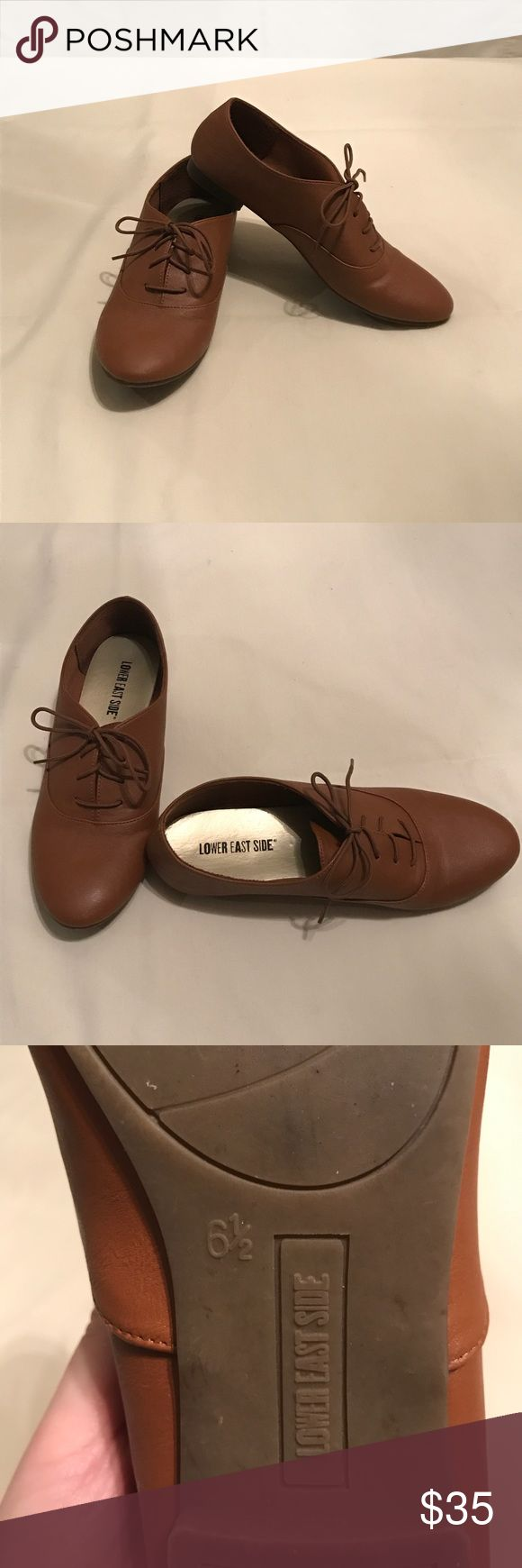 Brown Payless shoes. Size 6 1/2 Man made flat oxford lace up shoes. Very comfortable!  Lower East Side by Payless Shoes Flats & Loafers