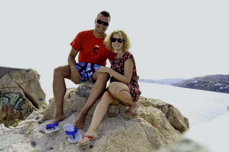 De vacaciones con Vero en Salobreña, España. ¡¡Así, la vida es mucho más fácil!!