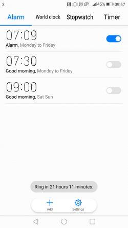 Huawei mate 9 alarms 8