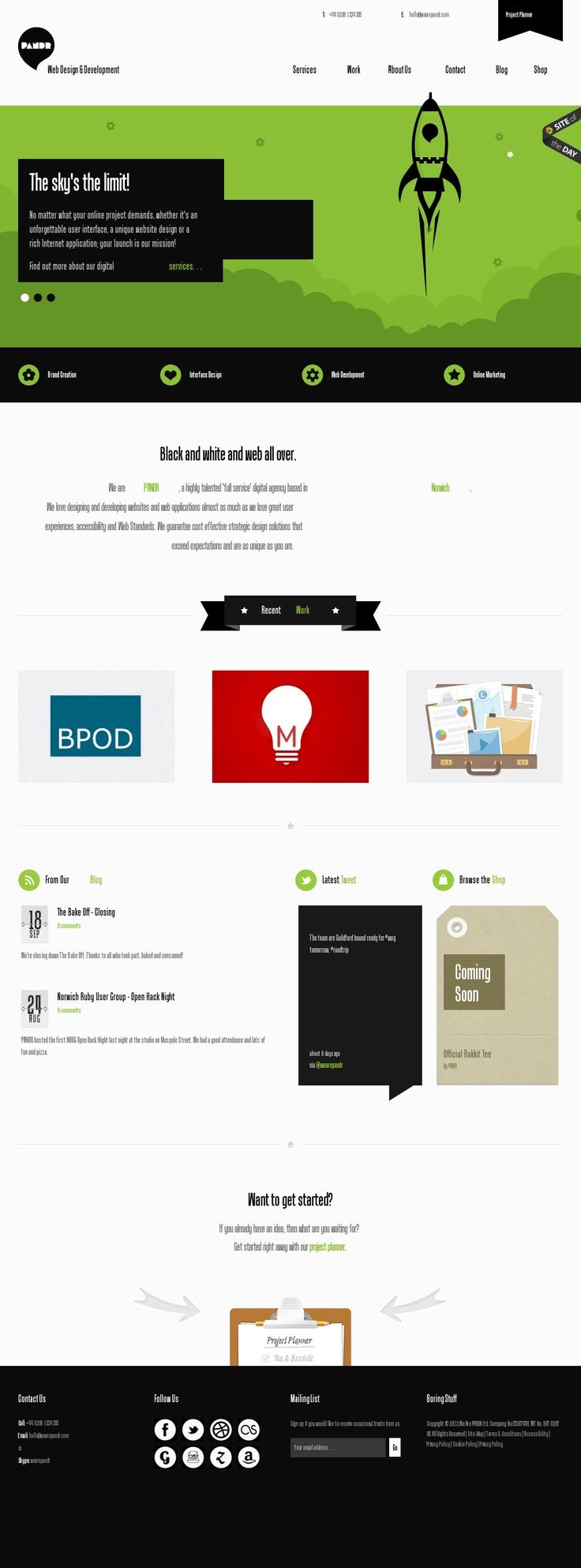Nice Green Website #interactive #template #webdesign #gency