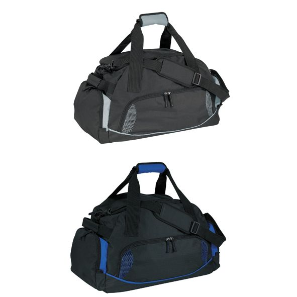 COD.MB061 Bolso Deportivo, compartimento inferior externo independiente para zapatillas. Compartimento principal con cierre y apertura superior completa. Compartimentos laterales externos con cierre. Correa regulable y desmontable con hombrera de tela. Manijas con velcro.