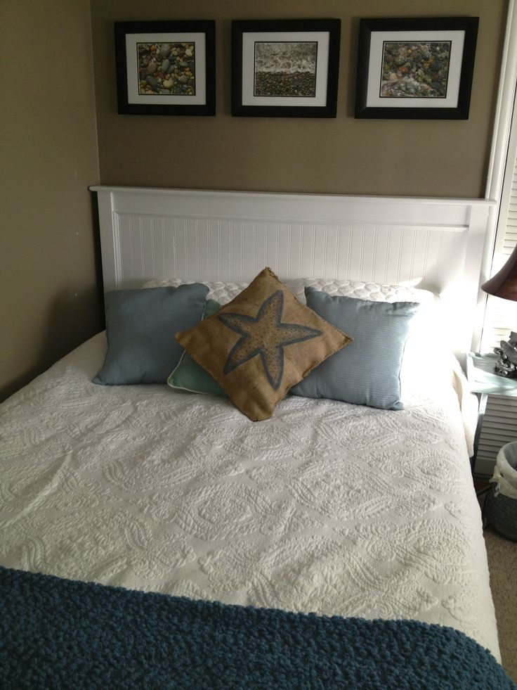 Finished Bed Mission Style Headboard Makeover With Bead
