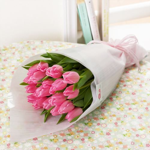 花束「本数が選べるチューリップ(ピンク)」