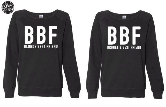 BBF-Blonde Best Friend-Brunette meilleur par TheShirtDealer sur Etsy