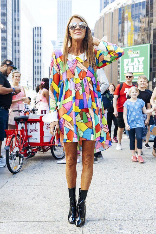 アンナ・デッロ・ルッソ(Anna Dello Russo)2016年春夏NYコレクション会場スナップ