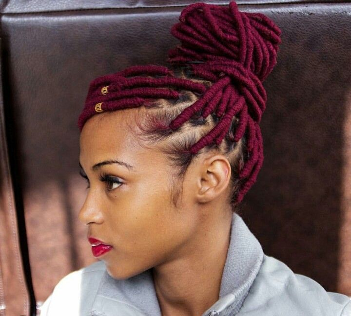 Faux Yarn Locs  Bomb hairstyles  Hair styles African braids hairstyles Natural hair styles