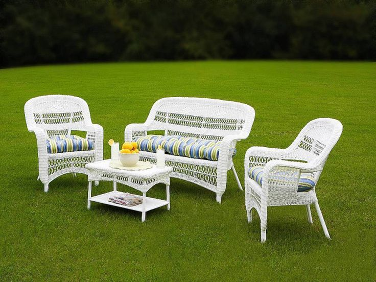 Amazing White Resin Wicker Outdoor Furniture Part 23