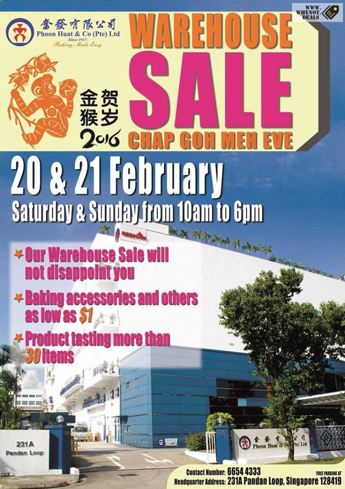 Phoon Huat Warehouse Sale 2016 - Why Not Deals