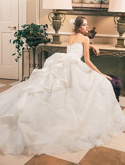 2016年最前線♡白いオーガンジーの花嫁衣装・ウェディングのまとめ一覧♡
