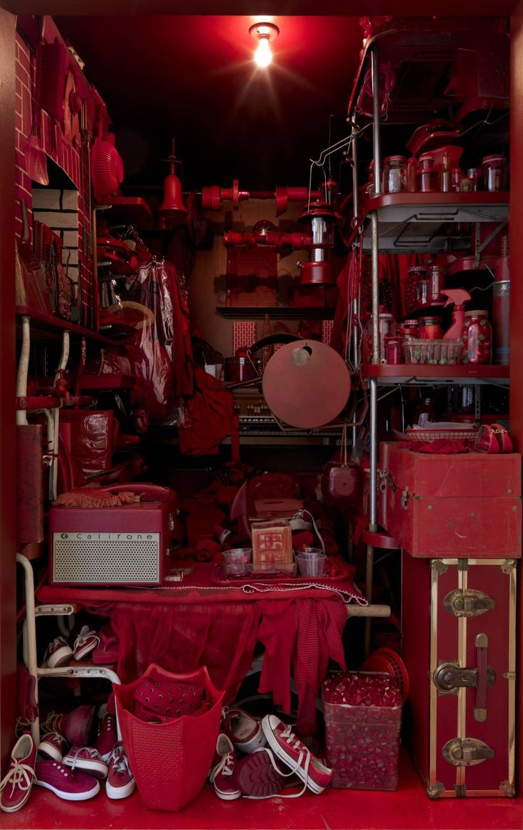RED ROOM (2007) by Robert Therrien (1947), mixed media installation from the Tate/National Galleries of Scotland Collection.