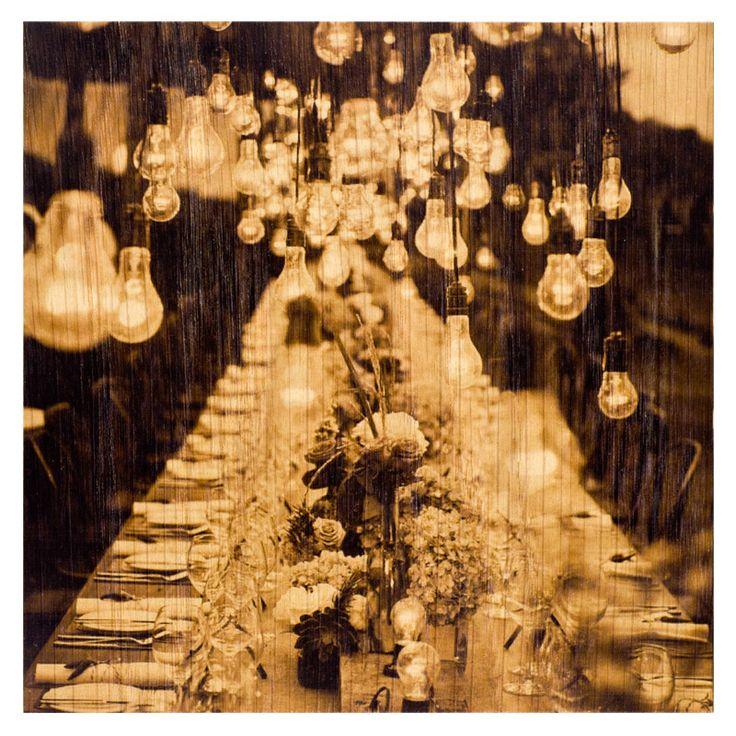 Пригласительная открытка на банкет / Wooden invitation to a banquet