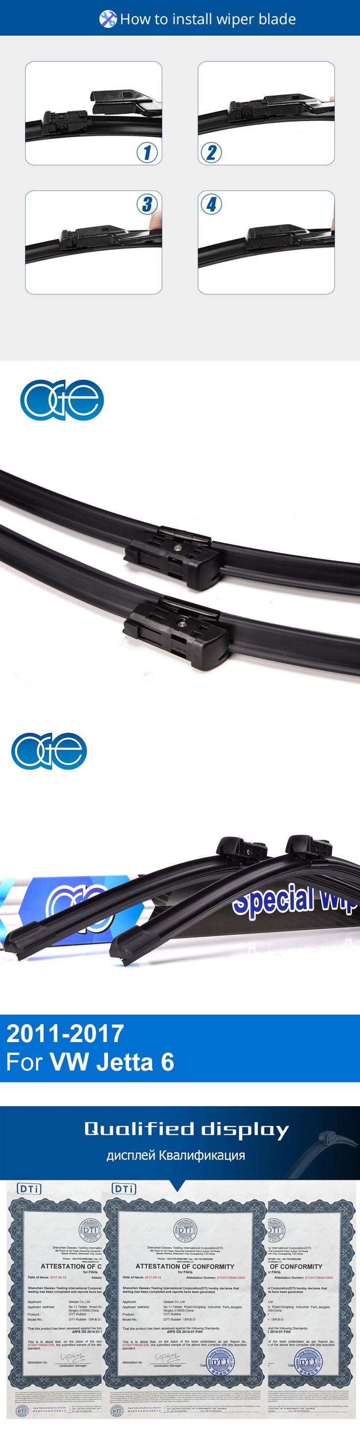 Oge 24''+19'' Wiper Blades For VW Jetta 6 mk6 A6 2011 2012 2013 2014 2015 2016 2017 Windscreen Rubber Car Accessories
